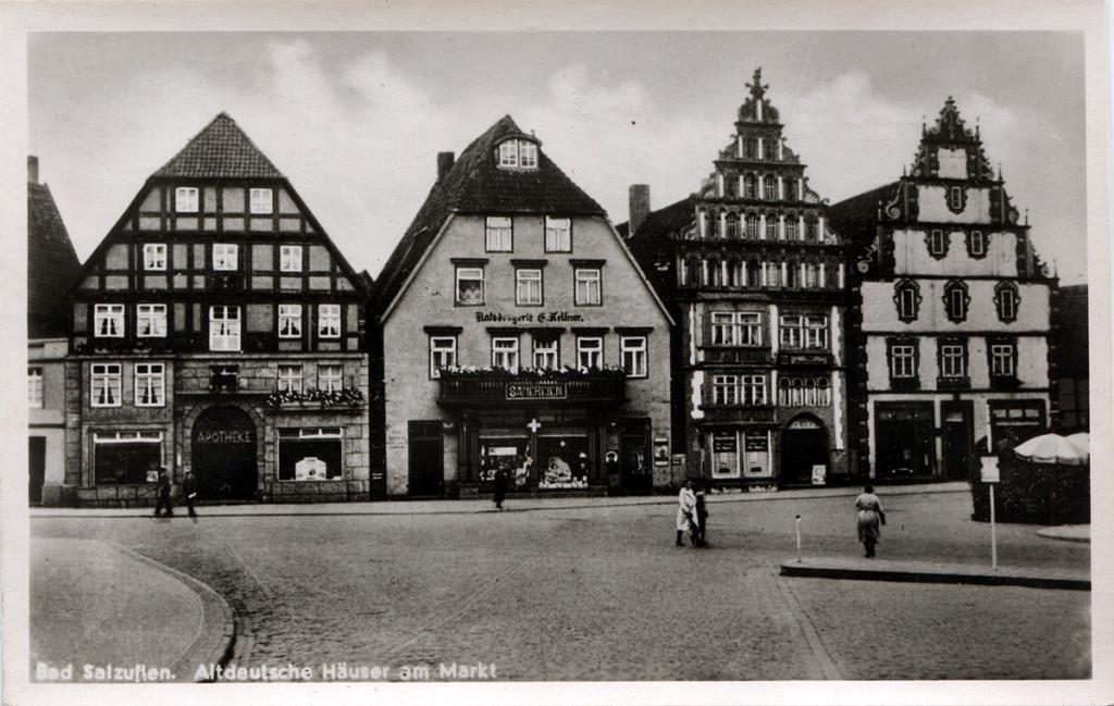 1930er_BadSalzuflen_Postkarte_Altdeutsche_Hauser_Am_Markt_WEB